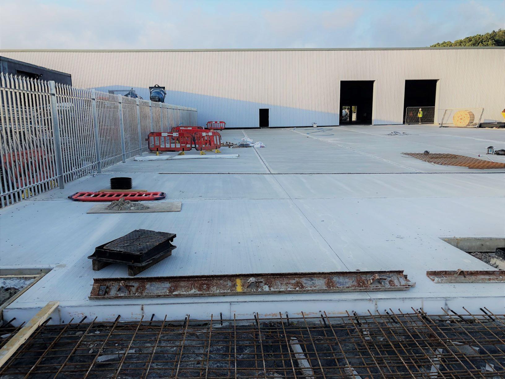 Carlsberg Building - reinforced concrete HGV yard
